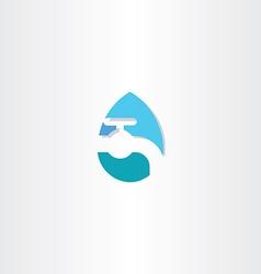 Water drop with tap logo icon symbol vector