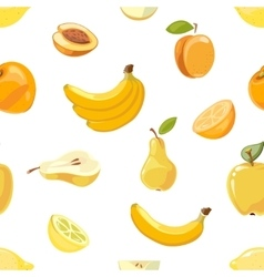 Yellow fruits seamless pattern over white vector