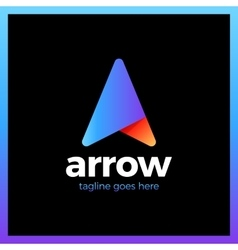 Arrow up letter a logo vector