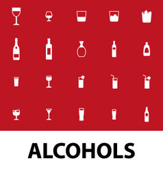 alcohols vector image