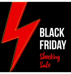 Black friday shocking sale card banner template vector