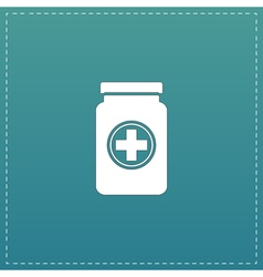 Medical container flat icon vector