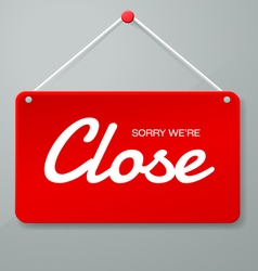 Close sign vector