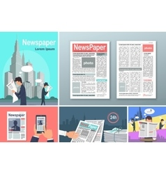 Newspapers News is Available 24 h Concept Banners vector image