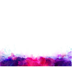 Purple violet lilac and pink watercolor stains vector