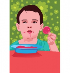 cheeky child vector image