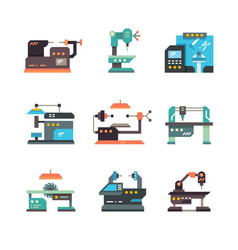 Industrial cnc machine tools and automated vector