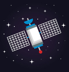 Satellite wireless technology communication world vector