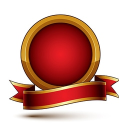 3d classic royal symbol sophisticated golden ring vector