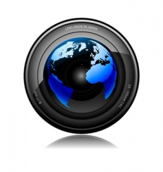 lens film vector image