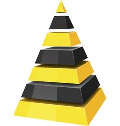 3d pyramids vector image