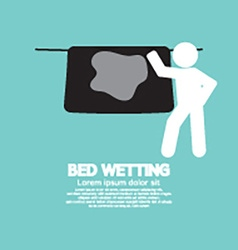 Bed wetting symbol vector