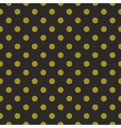 Tile pattern green polka dots on black background vector