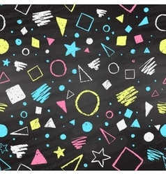 Geometric color chalked pattern vector