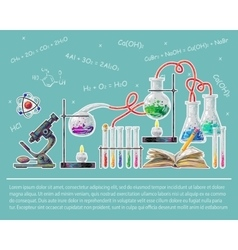 Science colored poster vector