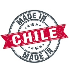 Made in chile red round vintage stamp vector