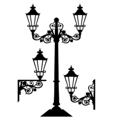 antique street lights vector image vector image