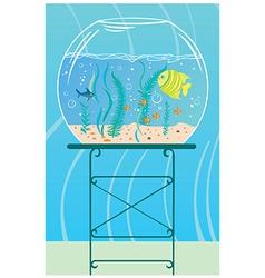 Aquarium with small fishes vector