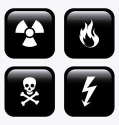 Danger signal design vector