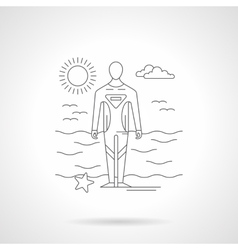 Diver on a sea coast line vector image