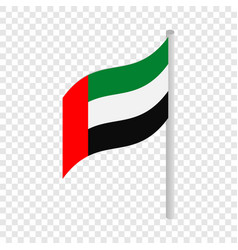 Flag of united arab emirates isometric icon vector