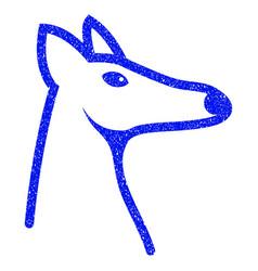 Fox head grunge icon vector