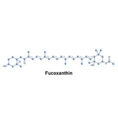 Fucoxanthin xanthophyll formula vector