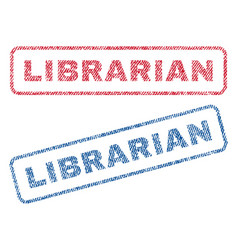 Librarian textile stamps vector