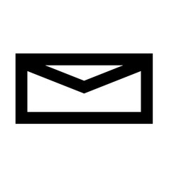 Mail black color icon vector
