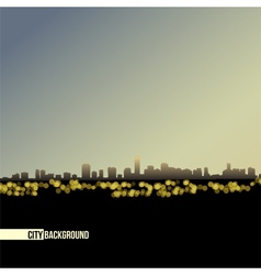 night skyline - background vector image
