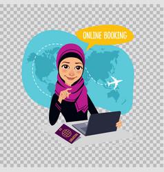 Online booking banner on transparent background vector