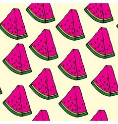 pieces of watermelon vector image vector image