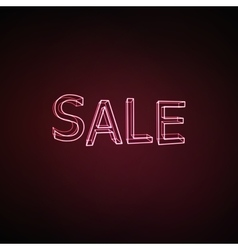 Sale neon 3d sign vector