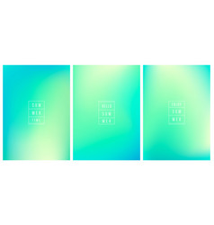 Set abstract gradient bg holographic vector