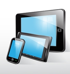 Set icon tablet and mobile phone vector