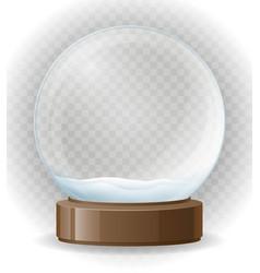 snow globe transparent vector image