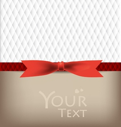 Greeting cards with red bows vector