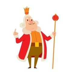 King cartoon character vector image