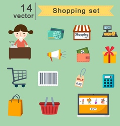 Shopping set vector