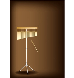 A musical bar chimes on dark brown background vector