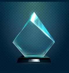 Hexadecimal or rhombus sport victory cup trophy vector