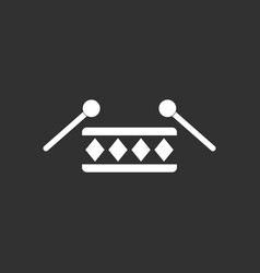 white icon on black background children musical vector image