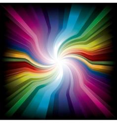 magic radial rainbow light vector image