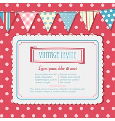 Invite and bunting background landscape vector