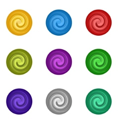 Colorful set circle paint vector