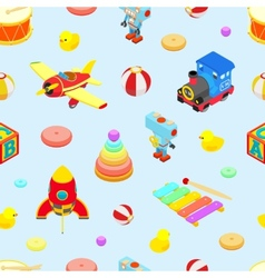 Seamless pattern with the toys vector