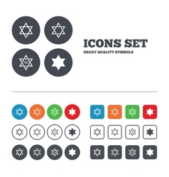 Star of david icons symbol of israel vector