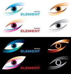 logo striking eye vector image