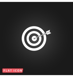 Dart is in the center of dartboard vector
