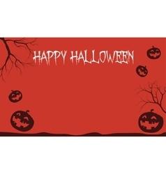 Red backgrounds halloween pumpkins vector